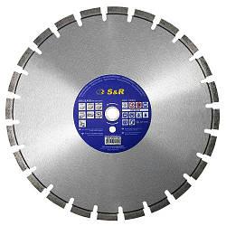 Диск отрезной сегментный S&R по бетону Standart 300