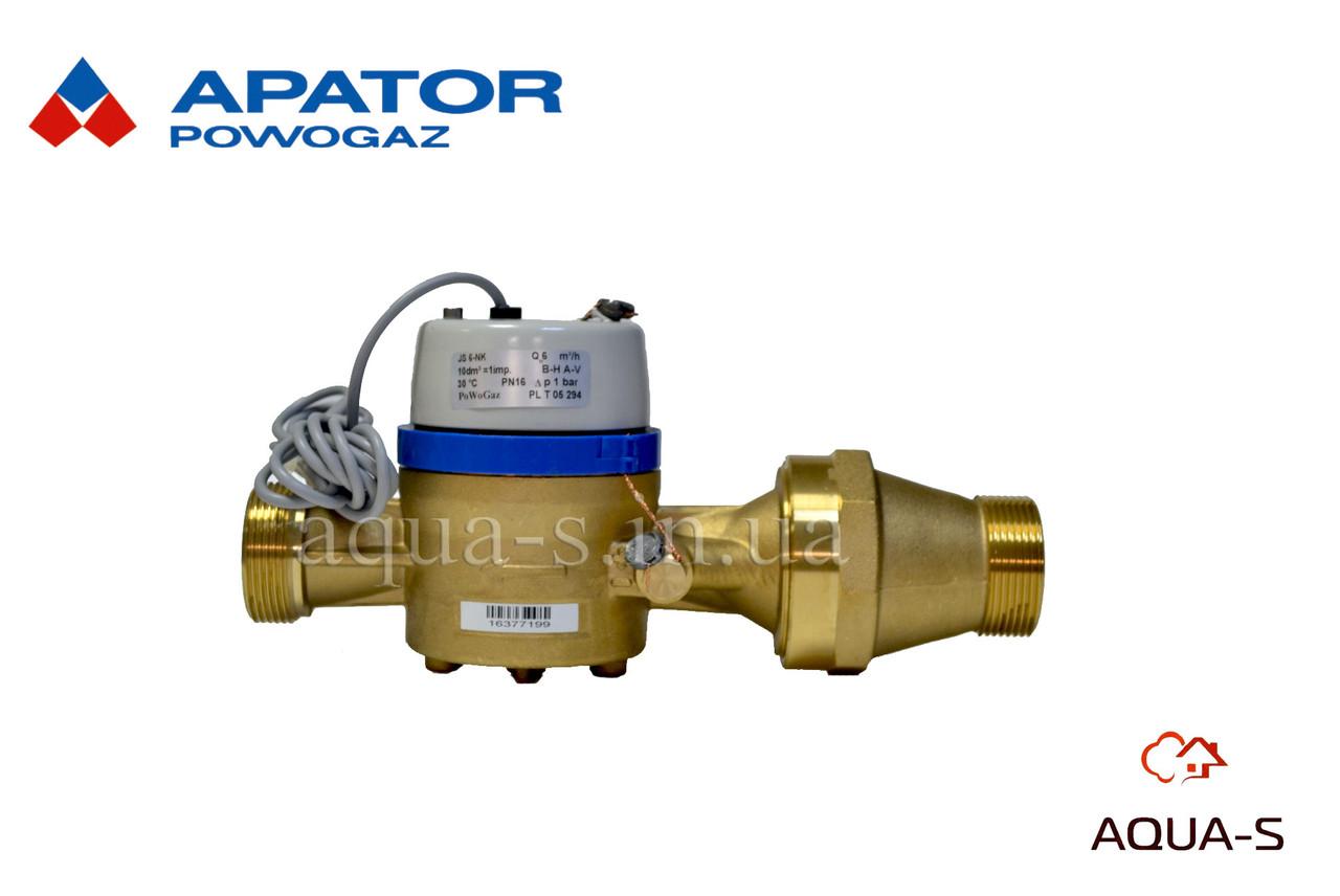 Счетчик воды Apator Powogaz JS-16 NK MASTER C+ импулсьный DN 40  (Польша) до 50° С