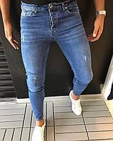 03f372f5db1 Мужские модные джинсы синие зауженные Zara (реплика)
