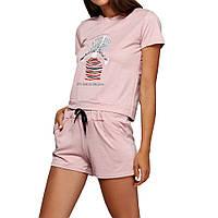 Женская пижама (футболка + шорты) СС8246