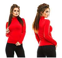 Гольф женский с начесом 025 (42/46 универсал) (цвет красный) СП