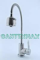 Смеситель для кухни с гибким изливом Zerix Lr 74304 нержавейка New
