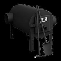 Дровяная отопительная печь Брест 200 с горизонтальным выходом теплого воздуха
