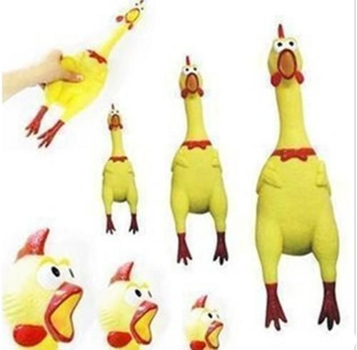 Резиновый цыпленок Pet игрушка-пищалка