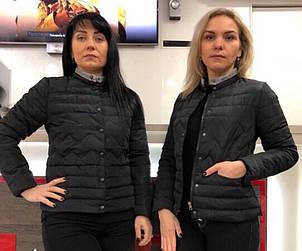 Красива модна тепла недорога жіноча куртка демі р. 42-50, фото 2