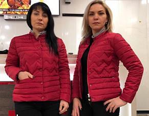 Красива модна тепла недорога жіноча куртка демі р. 42-50, фото 3