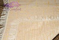 Полуторное покрывало Бамбук 150х200. Цвет-белое золото.
