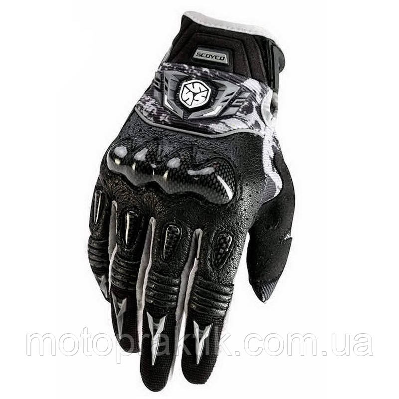 SCOYCO MX49 Gloves, Black, M Мотоперчатки текстильные с защитой