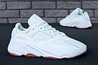 "Мужские кроссовки Adidas Yeezy Boost 700 ""Wave Runner"" White (в стиле Адидас Изи Буст 700) белые, фото 3"