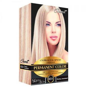 """Гель-фарба для волосся """"Славия"""" тон блонд палевий (код відтінку 031)"""