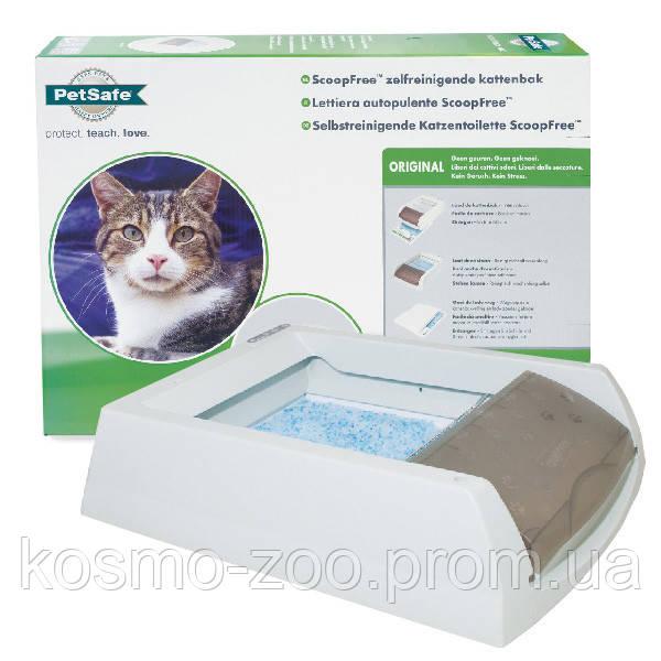 PetSafe ScoopFree ПЕТСЕЙФ СКУПФРИ автоматический туалет для котов, в комплекте силикагелевый наполнитель