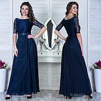 """Синє вечірнє шифонова довга сукня """"Невада"""", фото 1"""