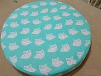 Простынь на резинке в круглую кроватку, фото 1