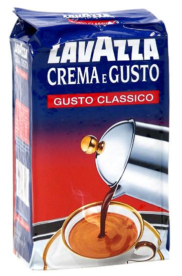 Кофе молотый Lavazza Crema e Gusto Gusto Classico (внутренний рынок италии)
