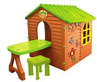 Детский игровой домик Mochtoys со столиком и стулом для детей (дитячий ігровий будиночок з столом та стільцем)