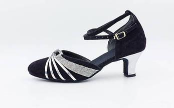 Обувь для танца (латина женская, закрытый носок) размер 36 D201 OF, фото 3