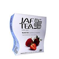 JAF TEA strawberry & raspberry. Черный чай с ароматом клубники и малины, 100 г