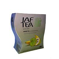 Чай зеленый с ароматом саусепа и банана Jaf Tea soursop & banana 100 г