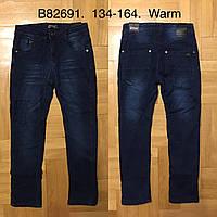 Джинсы утепленные для мальчиков оптом, Grace, 134-164 см,  № B82691, фото 1