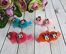 Заколки-уточки для волос Минни Маус с помпончиками  20 шт/уп, фото 4