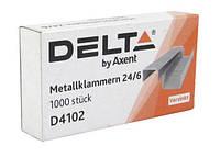 Скобы для степлера 24/6 (1000 шт). Delta by Axent