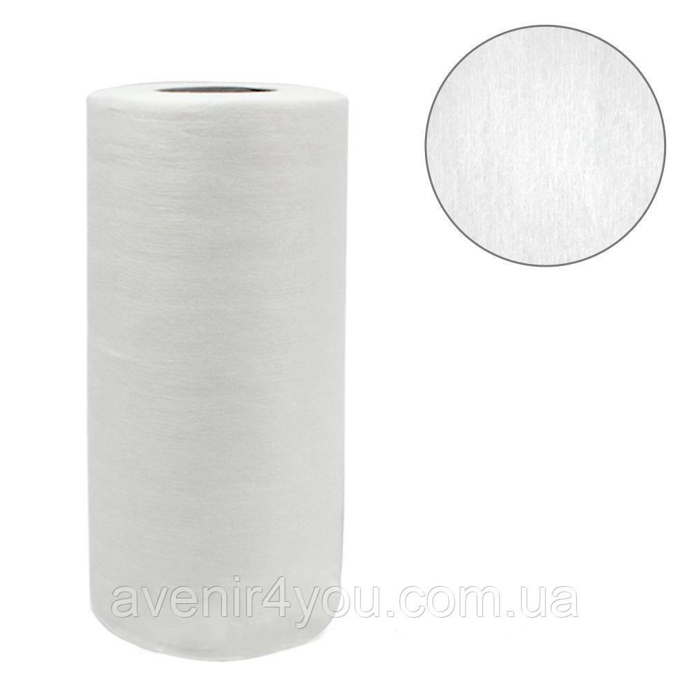 Полотенце одноразовое 35х70 (рулон 100 шт) Белое Гладкое, плотность 40г/м