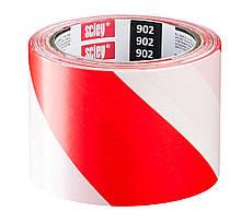 Стрічка сигнальна FAVORIT червоно-біла 80 мм 100 м