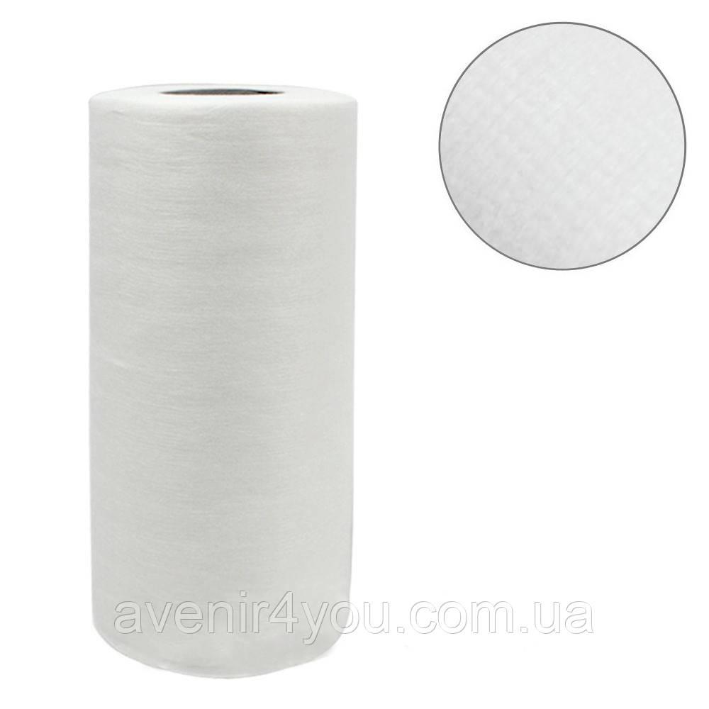 Полотенце одноразовое 35х70 см (100 шт) Сетка В рулоне Белое (плотность 40г/м)