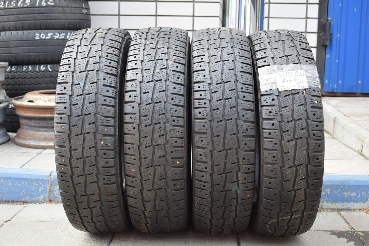 Шины б/у 195/75 R16С Michelin ЗИМА, комплект