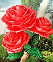 Роза красная-2. Ростовые цветы из изолона., фото 1