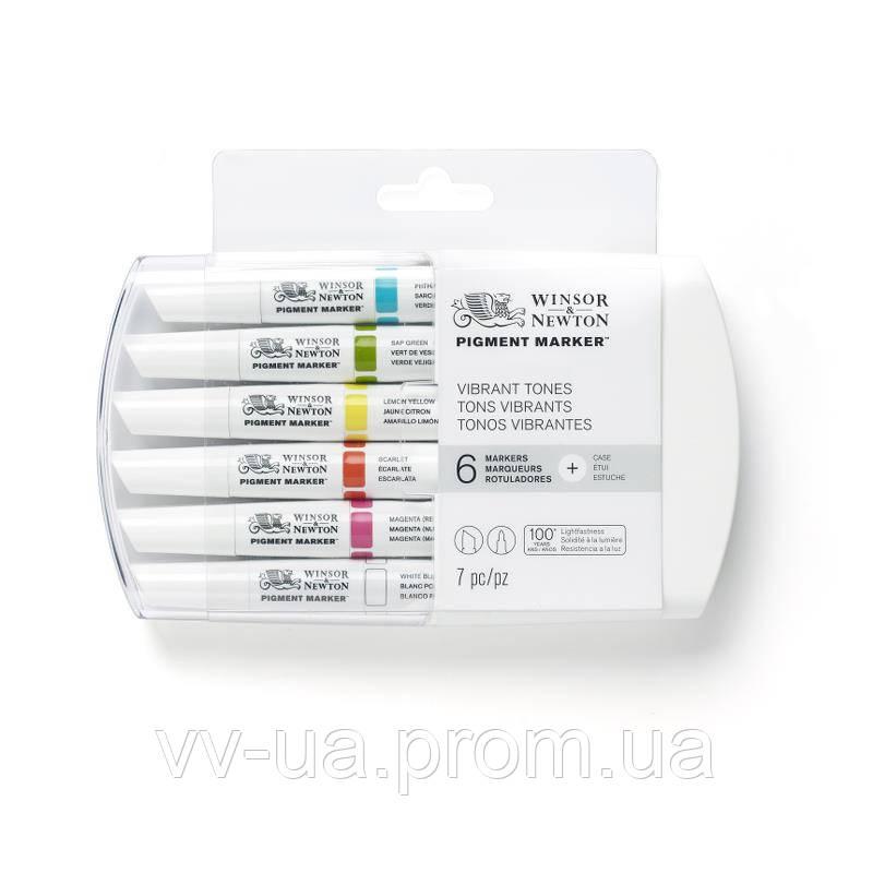 Набор маркеров Winsor & Newton Pigment Marker, Цветной, 6 шт (LS-884955043721)
