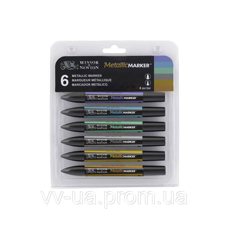 Набор маркеров Winsor & Newton ProMarker, Metallic, 6 шт (LS-884955043387)