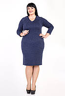 Приталенное платье батального размера на каждый день размер 52,54,56,58