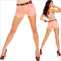 Женские короткие шорты кораллового цвета