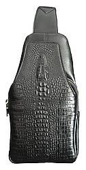 Мужская сумка Baellery Alligator Черная (BA15252)