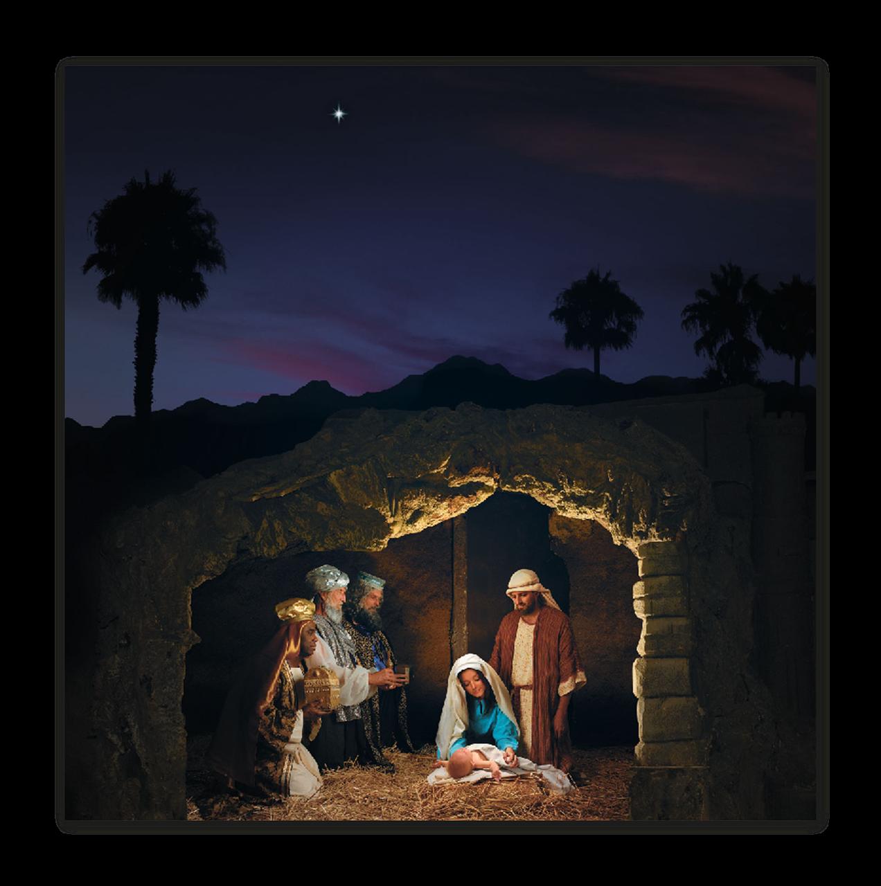 """Картина на стекле """"Рождение Христа"""""""