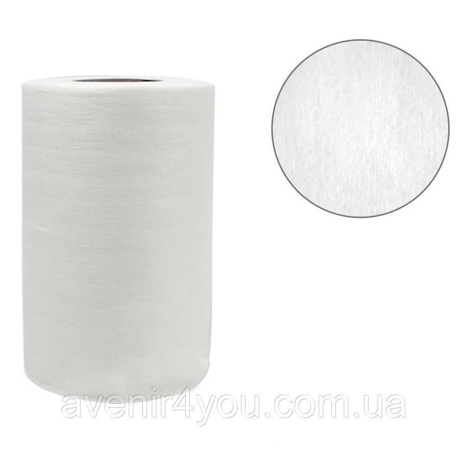 Полотенце одноразовое 30х40см (100 шт) Гладкое В рулоне (плотность 40г/м) Белое