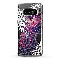 Чехол силиконовый (Вселенная, ананасы) Samsung Galaxy Note s9/9 plus s8/s8Plus A3/A5/A6/A7/A8 2017 2018 silicone case