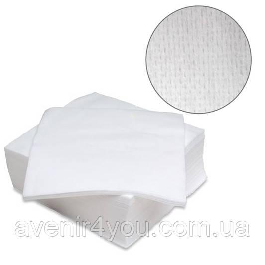 Салфетки одноразовые 20х20 см (100 шт) Сетка Нарезные Белые