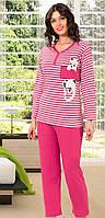 Женская теплая пижама на пуговицах Ангора