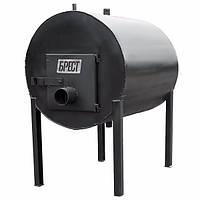 Дровяная отопительная печь КВД 500 с водным контуром