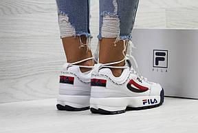 Женские кроссовки Fila,белые с красным, фото 2