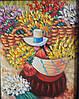 """Картина """"Цветочница из Перу"""""""