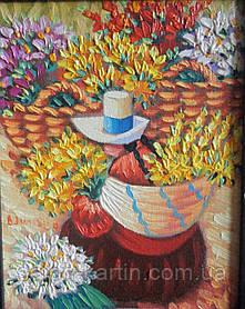 """Картина """"Женщина с цветами """""""