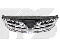 Решетка радиатора Toyota Corolla '10-13 внешняя+внутрення, черная+хром (FPS) 5311102570