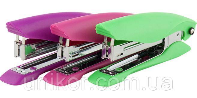 """Степлер № 10, 12 листов, """"Ultra"""", пластиковый корпус, глубина 95 мм., ассорти. AXENT"""