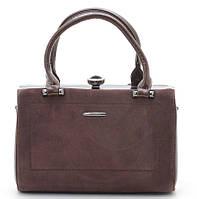 Женская сумка Gernas G-16880 coffee Женская каркасная сумка из замша d1c6ab275b7