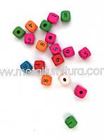 Заготовка кубики с цифрами(уп.10шт)