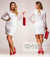 Платье белое батальное