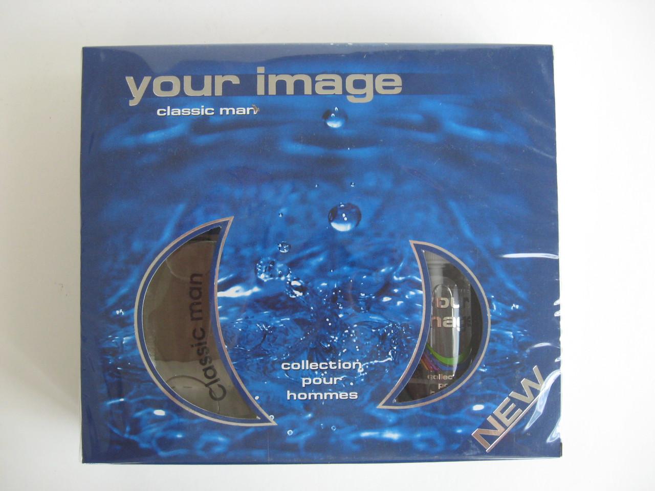 Парфумерний набір - for men - Classic (Your image) туалетна вода 100мл + рідкий антиперспірант